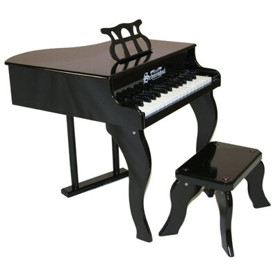 30 Key Fancy Baby Grand Piano in Black