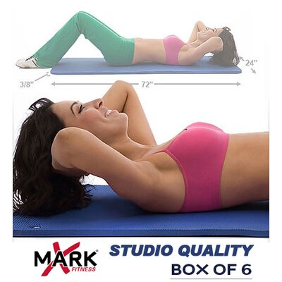 X-Mark Pack of 6 Studio Quality Pilates Mats