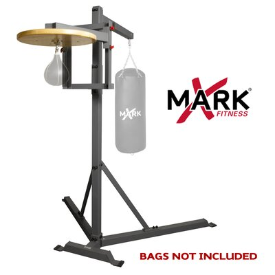 X-Mark Full Commercial Heavy Bag Stand with Speed Bag Platform