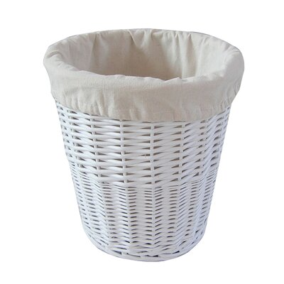 House additions willow waste bin reviews wayfair uk - Wicker trash basket ...