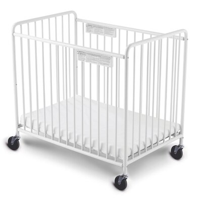 "Foundations Foundations Compact Little Dreamer™ EasyRoll™ Slatted, Non Folding Crib 4"" Casters"