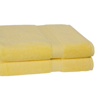 Calcot Ltd. 100% Supima Cotton 2-Piece Oversized Bath Sheet/Towel Set in Sunflower