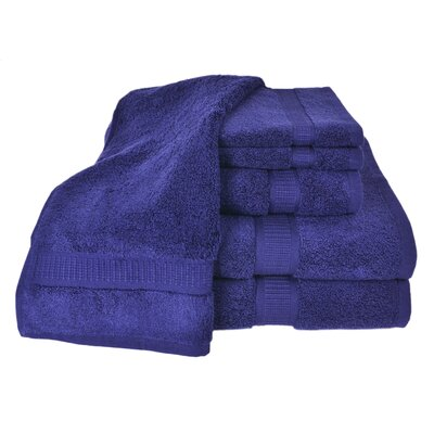 100% Supima Zero-Twist Cotton 6-Piece Towel Set