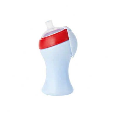 Boon Swig Ergo Sippy Cup Straw Tall in Cherry / Berry Cream