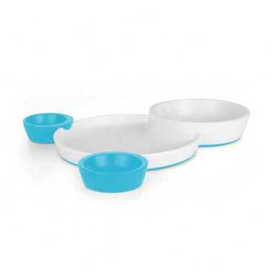 Boon Groovy Interlok Bowl in Blue