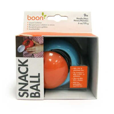 Boon Snack Ball Snack Container in Blue Raspberry / Tangerine