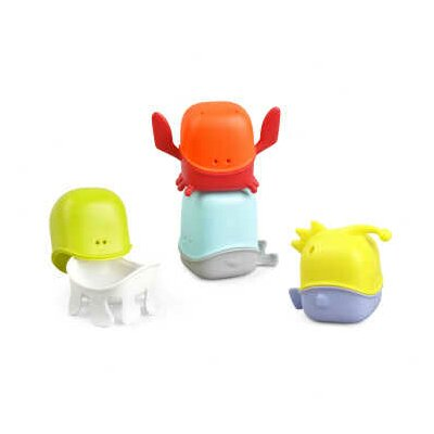 Creature Cups Interchangeable Bath Toy Cup Set in Multicolor