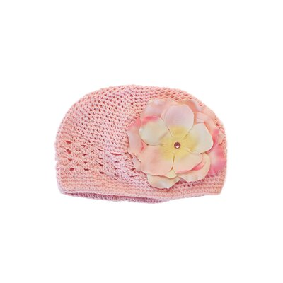 Lil Bowtique & Co Pink Crochet Hat with Jenessa Rose Flower