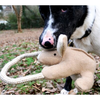 Kangaroo with Rope Dog Toy