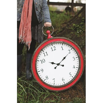 Heart & Home Metal Pocket Watch Wall Clock