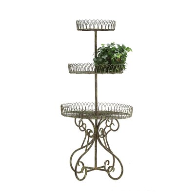 Secret Garden Metal 3-Tier Standing Baskets