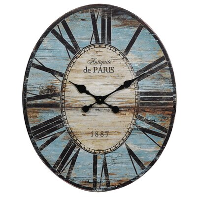 Creative Co-Op Oval Wall Clock