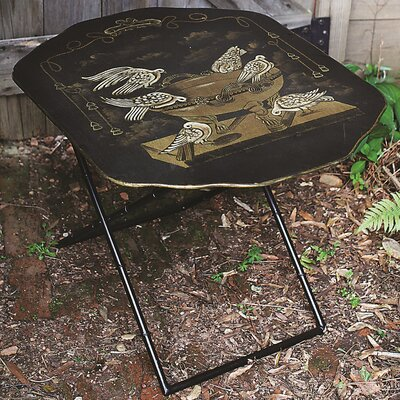 Creative Co-Op Metal Screen Shaped Folding Table