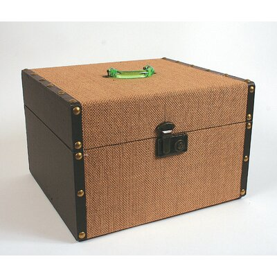 Wood and Fabric Covered Box with Acrylic Handle