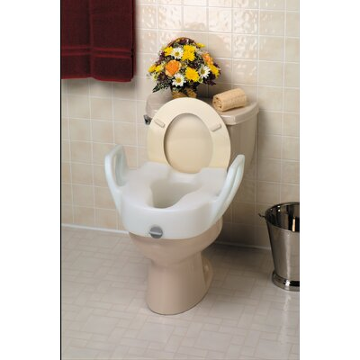 Bath Safe Lock-On Toilet Seat with Arms