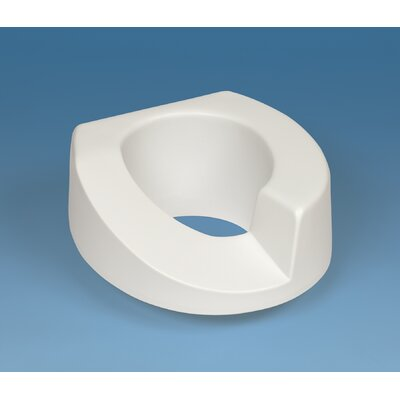 Ableware Sloped Arthro Tall-Ette Elevated Toilet Seat with Bolt-Down Lok-In-L-Bracket for Standard Toilets