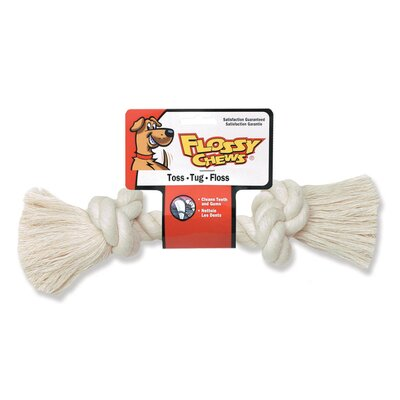 Rope Bone Dog Toy in White