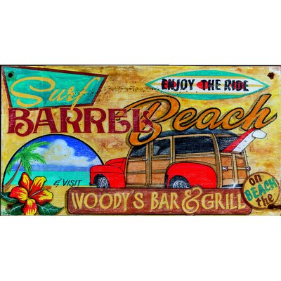 Vintage Signs Woody Surf Vintage Sign