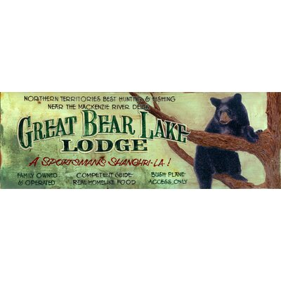 Vintage Signs Great Bear Lake