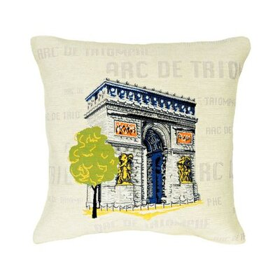 Jules Pansu Arc de Triomphe Pop Tapestry Cotton Twill Pillow