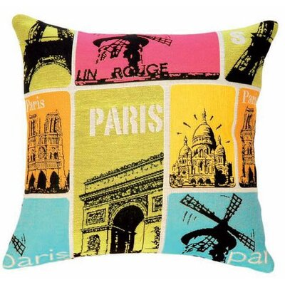 Jules Pansu Pop Paris Tapestry Cotton Twill Pillow