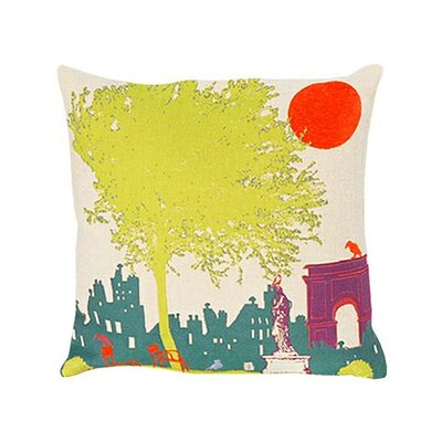 Jules Pansu Carousel du Louvre Tapestry Cotton Twill Pillow