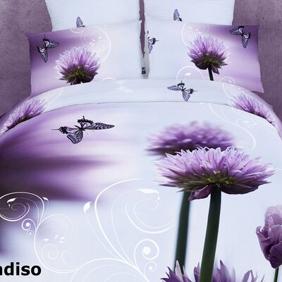 Dolce Mela Paradiso 6 Piece Full / Queen Duvet Cover Set