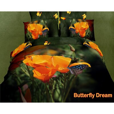 Dolce Mela Dolce Mela Butterfly Dream Duvet Cover Set
