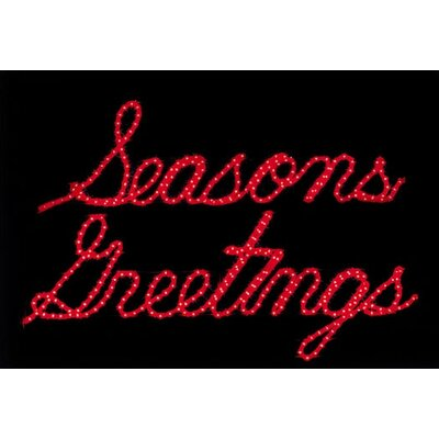 Holiday Lighting Specialists Season's Greeting LED Ropelight