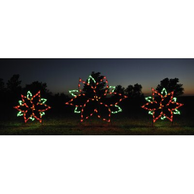 Holiday Lighting Specialists Large Poinsettia Light