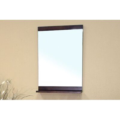 Bellaterra Home Morris Bathroom Mirror in Medium Walnut