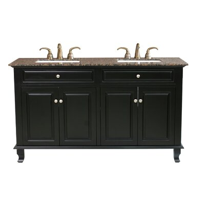 "Bellaterra Home Lewis 62"" Double Vanity Set"