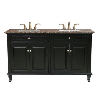 "Bellaterra Home Lewis 62"" Double Bathroom Vanity Set"