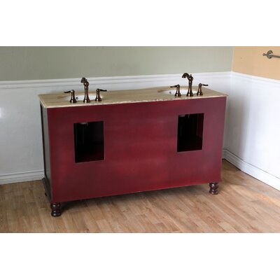 "Bellaterra Home Barrington 62"" Double Vanity Set"