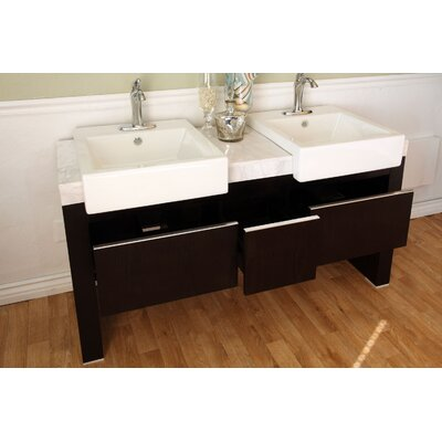 "Bellaterra Home Essex 58"" Double Vanity Set"