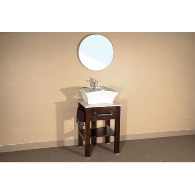 Bellaterra Home Browning Round Beveled Bathroom Mirror