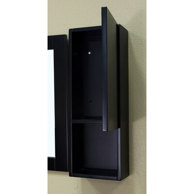Bellaterra Home Payne Bathroom Mirror Side Cabinet