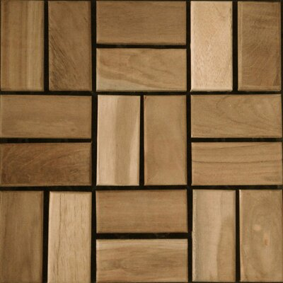 "Kontiki Teak 12"" x 12"" Interlocking Mosaic Deck Tiles"