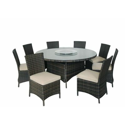 Kontiki 9 Piece Round Dining Set