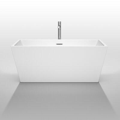 """Wyndham Collection Sara 59"""" x 31.5"""" Soaking Bathtub"""