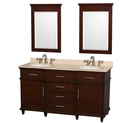 "Wyndham Collection Berkeley 60"" Double Vanity Set"