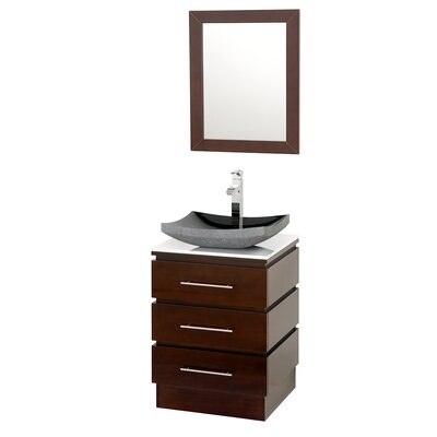 Wyndham Collection Rioni 22 Single Bathroom Vanity Set With Mirror Amp