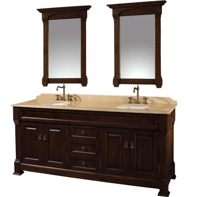 "Wyndham Collection Andover 72"" Double Bathroom Vanity Set"