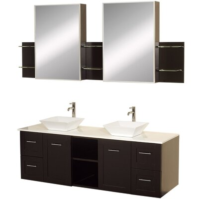 "Wyndham Collection Avara 60"" Wall-Mounted Bathroom Vanity Set"
