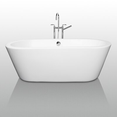 "Wyndham Collection Mermaid 67"" x 32"" Bathtub"