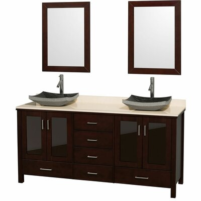 Wyndham Collection Lucy Double Bathroom Vanity Set