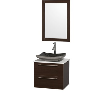 "Wyndham Collection Amare 24"" Single Bathroom Vanity Set"