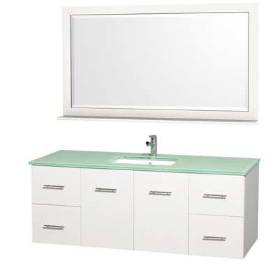 "Wyndham Collection Centra 60"" Single Bathroom Vanity Set"