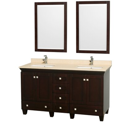 "Wyndham Collection Acclaim 60"" Double Bathroom Vanity Set"