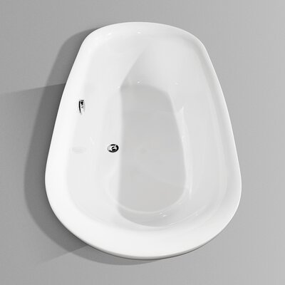 "Wyndham Collection Melissa 65"" White Soaking Bathtub"